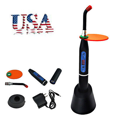 Usa Fast Ship- 10w Dental Wireless Cordless Led Curing Light Lamp 2000mw Cl-2b