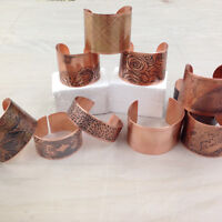 Non-Acid Etched Copper Cuff Bracelet