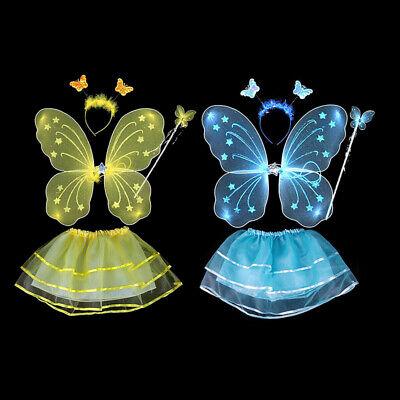 Schmetterlingsflügel Zauberstab Stirnband Röcke Kinder Mädchen Party - Schmetterling Kostüm Mädchen
