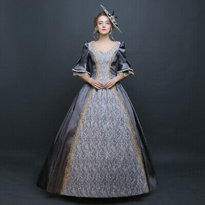 Womens Victorian Period Ball Gown Theare Cosplay Lace up Dress Palace Costumes - Ball Gown Costumes