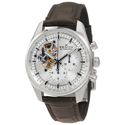 Zenith Chronomaster El Primero Automatic Chronograph Silver Dial Mens Watch