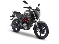 NEW KSR GRS 125CC MOTORCYCLE, FOR £11.17 PER WEEK