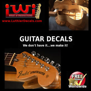 Guitar Restoration Waterslide Decals...free shipping