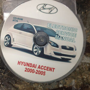 Accent repair manual on CD