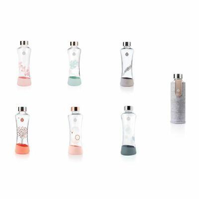 Equa Trinkflasche verschiedene Motive Glasflasche Wasserflasche Sportflasche  ()