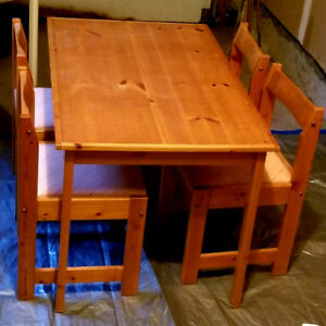 Various Tables chairs snowboard drafting desk