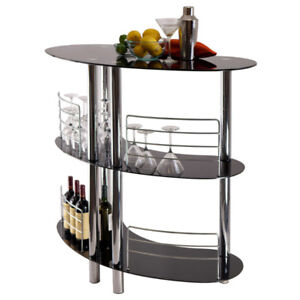 Glass Bar Stand, Toaster & Wine cooler for sale