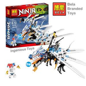 BELA branded Ninja ice dragon and 2 minifigures ninjago  NEW box ##9729 L
