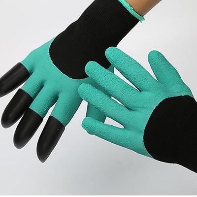 1pair Garden Gloves for gardening Digging & Planting with 4...