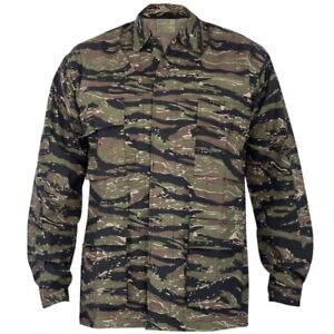 Mens Rothco Ultra Force BDU Tiger Stripe Camouflage Shirt Large