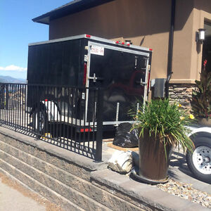 ENCLOSED CUSTOM BUILT MOTORCYCLE TRAILER