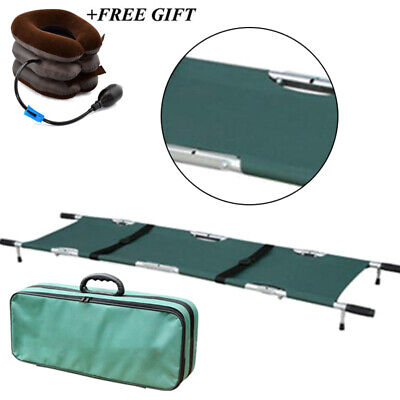 Portable Foldable Aluminum Medical Stretcher With Wheels Ambulance Easy Operate