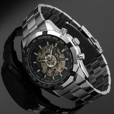 Magifique Armbanduhr Automatisch Luxus Rock für Männer Edelstahl-Armband