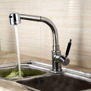 Kitchen Brass Pull Out Down Hose Spray Sink Tap Shower Faucet 220252