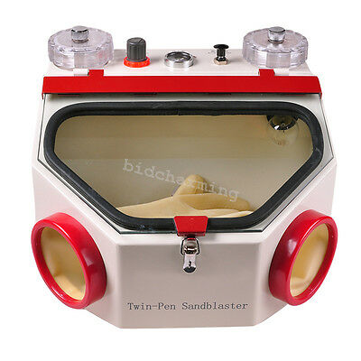 Dental Lab Equipment Double Pen Twin Pencil Sand Blasting Sandblaster Machine A