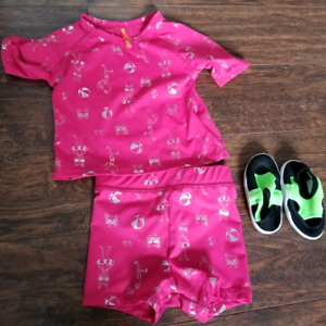 Baby swimsuit and shoes 6-12 months