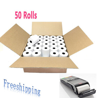 50 Rolls 2 14 X 85 Thermal Cash Register Credit Card Pos Receipt Paper Labels
