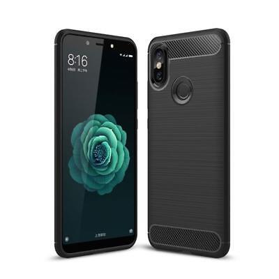 CoverKingz Xiaomi Mi A2 Handyhülle Premium Silikon Case Carbonfarben
