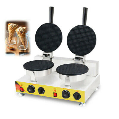 110V 2KW Ice Cream Cone Egg Roll Waffle Baker Maker Machine Iron Electric for sale  Shipping to Ireland