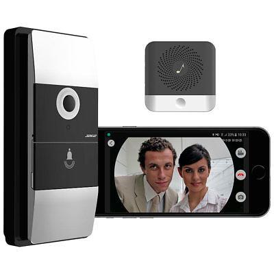 Somikon WLAN-Video-Türklingel mit App, Klingelempfänger, 180° Bildwinkel, Akku