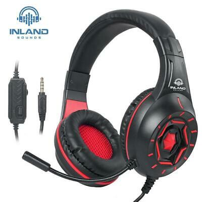 Gaming Stereo Headset Mic Red Inland Compatible PS4/PS5/Xbox One/Series/PC