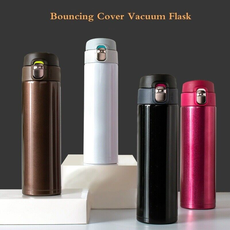 500ml Stainless Steel Vacuum Cup Thermos Flask Travel Water Bottle Cup Mug Hot