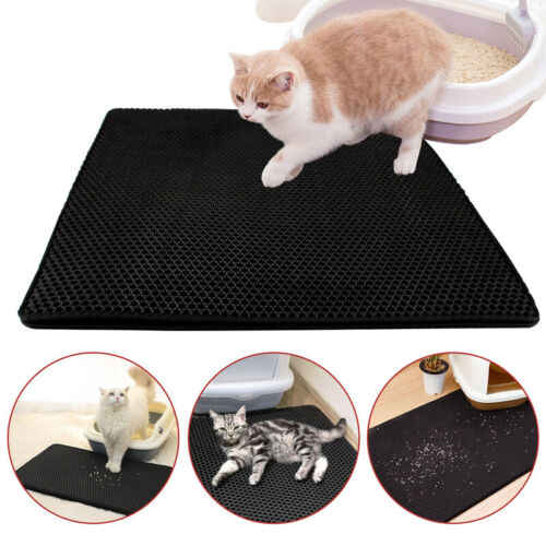 Katzenstreu Matte Katzenklo 79×60cm 2 Schicht Urinbeständiges Wasserdicht