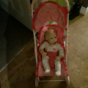 American girl -  itty-bitty baby and stroller