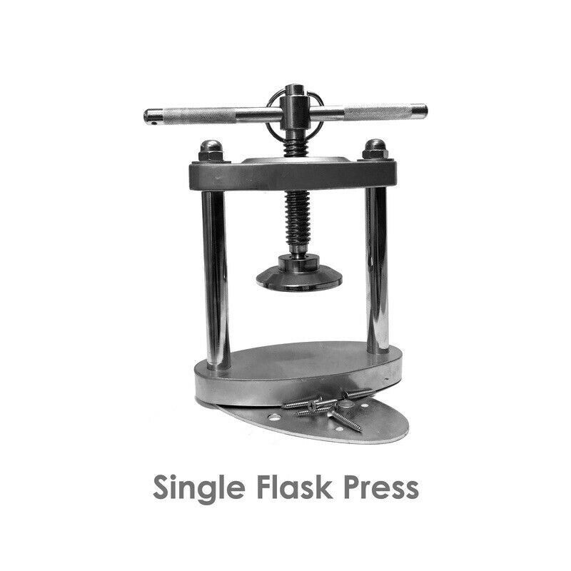 Chrome Table Mountable Denture Single Flask Press Dental Lab
