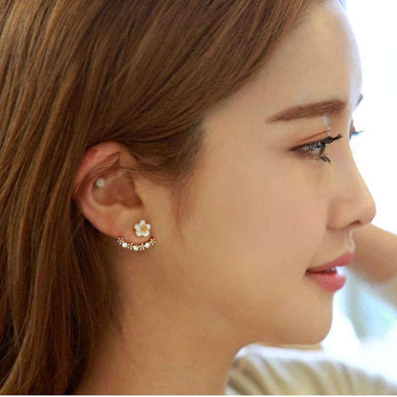 New Fashion Women Lady Elegant 1Pair Crystal Rhinestone Ear Stud Earrings Earrings