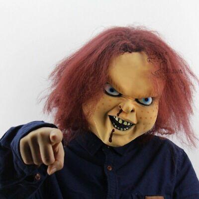 Chucky Latex Mask (Latex Mask With Hair Chucky Child's Play Full Head Halloween Party Costume)
