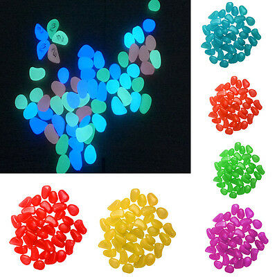 Wholesale 100 Pcs Glow In The Dark Stones Pebbles Rock For FISH TANK AQUARIUM DF