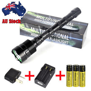 TrustFire 6000LM 3x XM-L T6 LED Flashlight Torch Lamp 5mode 18650 Charger Set