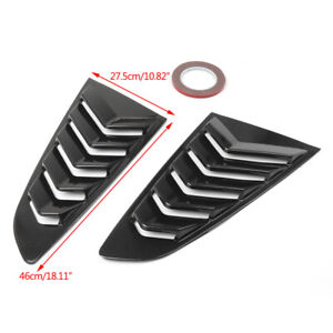 2015-up Mustang ABS Carbon Fibe Look Rear Side Window Louver