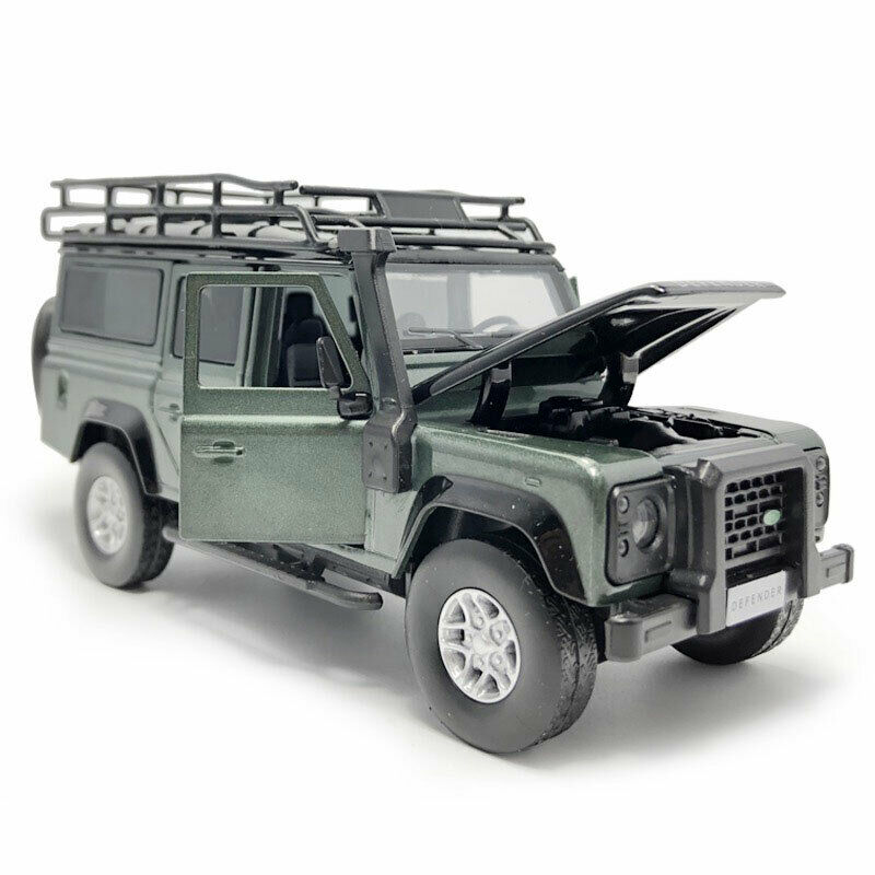 Land Rover Defender 1//32 Model Car Alloy Diecast Toy Collection Kids Gift Green