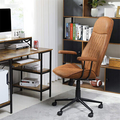 Office High-back Desk Chair Height Adjustable Leather Swivel Task Gaming Chair
