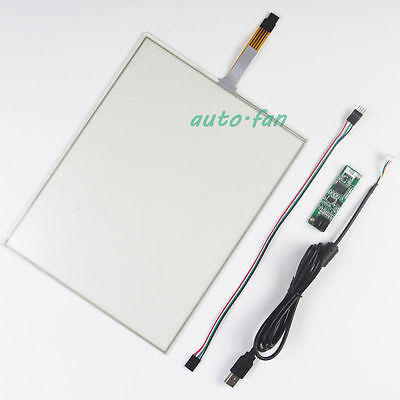 12.1inch 260.8x200.2mm 4Wire Resistive Touch Screen Panel USB kit for monitor Screen Panel Kit