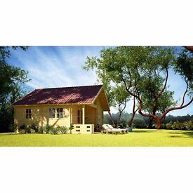 Great 68 mm (5,8 x 5,8 m) Log Cabin / Summerhouse