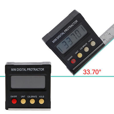 360 Mini Cube Digital Gauge Magnetic Base Angle Protractor Level Inclinometer