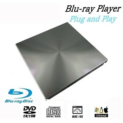 External 3D Blu Ray DVD Drive USB 3.0 BD CD DVD Burner Player Writer Reader for