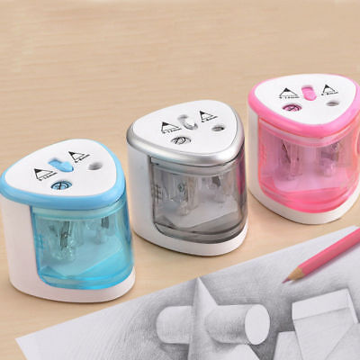 Automatic Electric Battery Operated Desktop Pencil Sharpener Double Holes