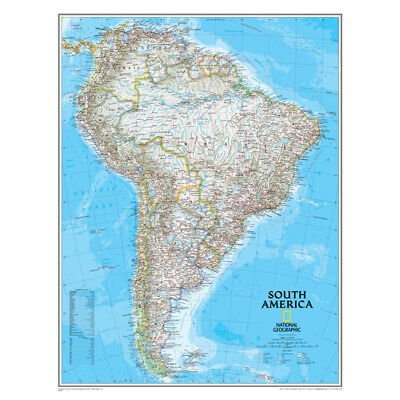 NATIONAL GEOGRAPHIC MAPS SOUTH AMERICA WALL MAP 24 X 30 RE00620150