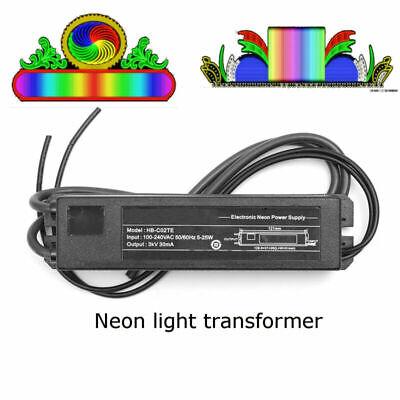 Electronic Neon Light 3kv 30ma 5-25w Sign Transformer Hb-c02te Power Supply