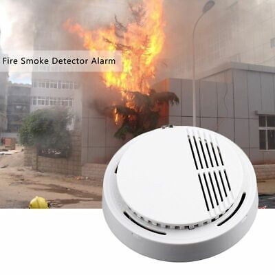 Fire Detector Smoke Alarm Photoelectric Sensor Office Home Security Safety Ce