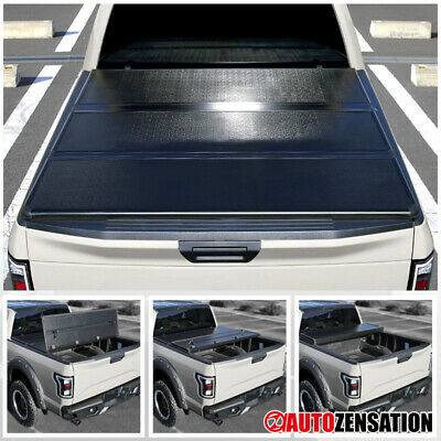 For 2014-2018 Toyota Tundra SR5 CrewMax 5.5ft Bed Hard TriFold Tonneau Cover