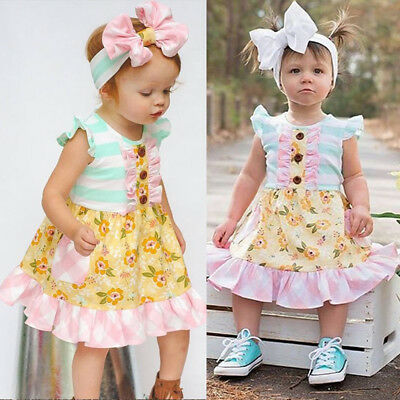 Infant Baby Girl Dress Skirt Newborn Casual Summer Tutu Dresses Clothes Sundress (Casual Girl Dresses)