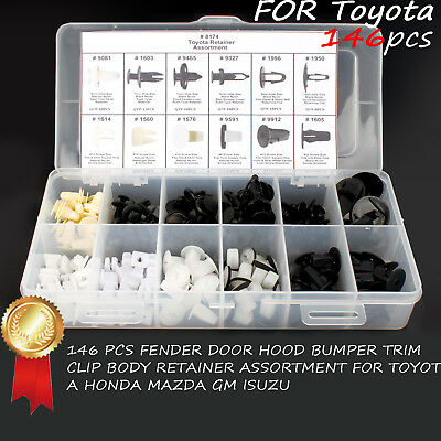 For Toyota Door Trim Panel Retainer Push Fender Hood Bumper Clip Body 146 PCS