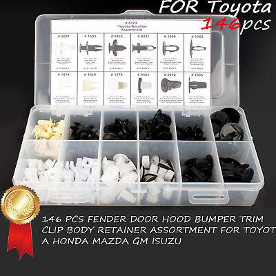 For Toyota Door Trim Panel Retainer Push Fender Hood Bumper Clip Body 146 PCS