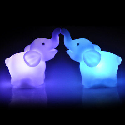 Changing 7 Color Elephant Shape LED Night Light Bedroom Lamp Wedding Party - Elephant Color