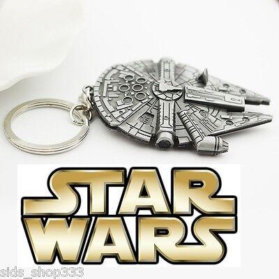 STAR WARS MILLINIUM FALCON Figurine metal replica keychain Key chain collectible